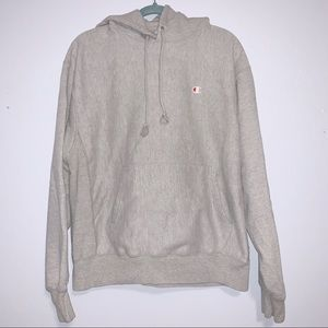 [Champion] Reverse Weave Faded Gray Hoodie - L